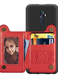 cheap -Case For OPPO F11 Pro / OPPO Reno 10X / OPPO Reno2 Z  Card Holder / with Stand / Ultra-thin Back Cover Solid Colored PU Leather / TPU Case For OPPO Reno / OPPO Realme X