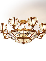 cheap -Lightinthebox 9-Light 77 cm Chandelier Copper Glass Empire Artistic / Traditional / Classic 220-240V