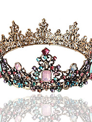 cheap -Tiaras Wreaths Crown Masquerade Retro Vintage Gothic Alloy For Lolita Cosplay Halloween Carnival Women's Costume Jewelry Fashion Jewelry