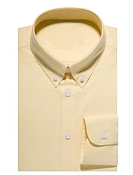 Недорогие -желтая хлопковая рубашка