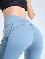 cheap -Women's Activewear / Yoga Sporty Legging - Color Block, Print High Waist Black Light Blue Purple S M L