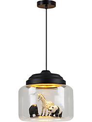 Недорогие -скандинавские светильники ресторан подвесной светильник кафе магазин одежды творческий мультфильм животных детская комната стеклянный подвесной светильник