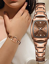cheap -Women's Quartz Watches New Arrival Elegant Silver Rose Gold Stainless Steel Chinese Quartz Rose Gold White Silver Chronograph Cute New Design 1 pc Analog One Year Battery Life