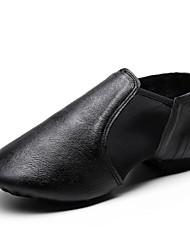 cheap -Women's Dance Shoes Pigskin / Elastic Fabric Jazz Shoes Sneaker Flat Heel Customizable Black / Camel