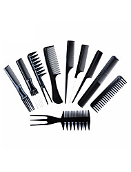 cheap -10Pcs Professional Hair Brush Comb Set Anti-static Hairdressing Combs