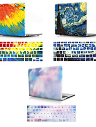 Недорогие -крышка клавиатуры Mac&усилитель; Цвет градиента корпуса macbook / небо / пластик для масляной живописи для нового macbook pro 15 дюймов / новый macbook pro 13 дюймов / новый macbook air 13 2018