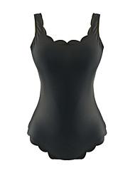cheap -Women's Basic Black Halter Cheeky One-piece Swimwear Swimsuit - Solid Colored Print S M L Black