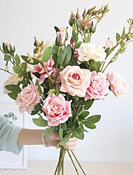 Недорогие -1 шт. Моделирования роза свадебная комната одеваются домашнее украшение стола букет 92 см