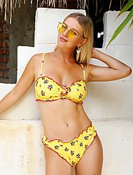 cheap -Normal Nylon Swimwear & Bikinis Sexy Floral Vacation Pattern / Print Vacation