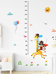 cheap -Funny Giraffe Monkey Measures Your Height Stickers - Animal Wall Stickers Landscape / Animals Indoor / Kids Room / Kindergarten