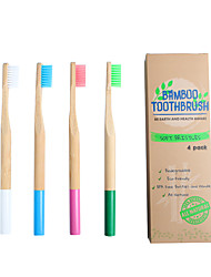 cheap -LITBest 4PC Natural Bamboo Toothbrush Eco-friendly Low-carbon Travel Tooth Brush Soft Bristle for Adults Toothbrush Oral Care Drop Ship