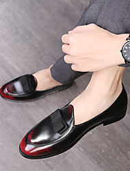 cheap -Men's Formal Shoes PU Spring & Summer / Fall & Winter Business / Casual Loafers & Slip-Ons Walking Shoes Breathable Gradient Black / Brown / Red / Party & Evening