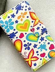 Недорогие -Кейс для Назначение Nokia Бумажник для карт / со стендом / Флип Чехол Бабочка / Пейзаж / Цветы Кожа PU