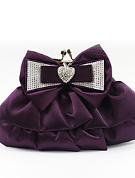 cheap -Women's Bow(s) / Crystals Silk Evening Bag Solid Color Purple