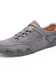 cheap -Men's Leather Shoes Pigskin Spring & Summer / Fall & Winter Vintage Athletic Shoes Non-slipping Black / Beige / Gray
