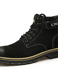 cheap -Men's Leather Shoes Leather / Nappa Leather Spring & Summer / Fall & Winter Business / Casual Boots Breathable Booties / Ankle Boots Black / Yellow / Gray