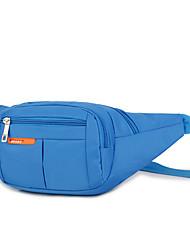 """Недорогие -Универсальные Ткань """"Оксфорд"""" Поясная сумка Сплошной цвет Черный / Лиловый / Пурпурный"""