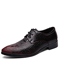cheap -Men's Formal Shoes PU Spring & Summer / Fall & Winter Casual / British Oxfords Black / Burgundy / Party & Evening