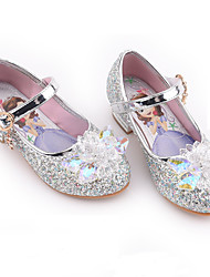 cheap -Girls' Flower Girl Shoes Synthetics Flats Little Kids(4-7ys) / Big Kids(7years +) Crystal / Sequin / Buckle Purple / Blue / Pink Spring / Fall / Party & Evening