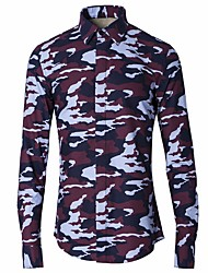cheap -Men's Daily Shirt - Camo / Camouflage Purple