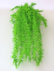 cheap -Artificial Plant Rattan Green Leaves Indoor Vine Wall Hanging Wedding Home Green Plant Decoration 1 Stick