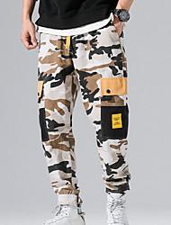 cheap -Men's Street chic Chinos Pants - Camouflage Black Navy Blue US32 / UK32 / EU40 US34 / UK34 / EU42