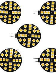 cheap -5pcs 4 W LED Bi-pin Lights 400 lm G4 24 LED Beads SMD 5050 Warm White White 9-30 V