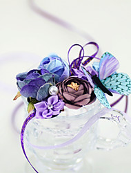 "cheap -Wedding Flowers Wrist Corsages Wedding Party / Birthday Party Organza / Fabrics 3.54""(Approx.9cm)"