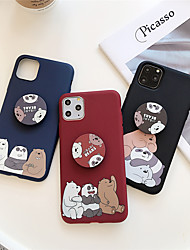 cheap -Case For Apple scene map iPhone 11 11 Pro 11 Pro Max Cartoon bear pattern same airbag bracket thick TPU material all-inclusive mobile phone case