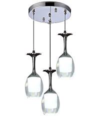 cheap -3-Light 28 cm Mini Style Chandelier Aluminum Mini Electroplated Artistic / Modern 110-120V / 220-240V
