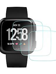 Недорогие -защитная пленка для экрана fitbit наоборот / lite lite закаленное прозрачное высокое разрешение (hd), устойчивое к царапинам / твердость 9ч
