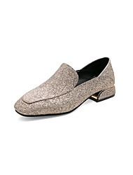cheap -Women's Loafers & Slip-Ons Spring & Summer / Fall & Winter Low Heel Square Toe Classic Minimalism Daily Office & Career Solid Colored PU Gold / Blue / Silver
