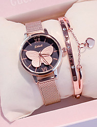 cheap -Women's Quartz Watches New Arrival Elegant Rose Gold Stainless Steel Japanese Quartz Black Rose Gold White Chronograph Cute New Design 2pcs Analog Two Years Battery Life