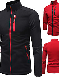 cheap -UABRAV Men's Full Zip Track Jacket Running Jacket Stand Running Fitness Jogging Windproof Breathable Soft Sportswear Jacket Long Sleeve Activewear Stretchy