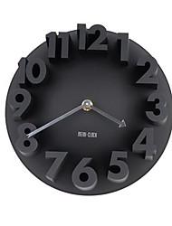 Недорогие -европейские настенные часы 3d цифровой немой трехмерная мода простые настенные часы творческие часы гостиная искусство мода