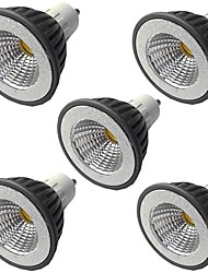 cheap -5pcs 5 W LED Spotlight 400 lm GU10 GU10 1 LED Beads COB Warm White White 110-240 V