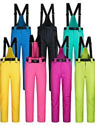 cheap -Men's Women's Ski / Snow Pants Downhill Ski Thermal Warm Waterproof Windproof Nylon Cotton Warm Pants Bib Pants Ski Wear / Winter