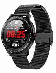 Недорогие -Жен. электронные часы На каждый день Мода Черный Синий Красный силиконовый Искусственная кожа Цифровой Черный Синий Красный Защита от влаги Bluetooth Smart 30 m 1 комплект Цифровой