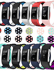 cheap -Watch Band for Fitbit Charge 2 / Fitbit Charge 2 HR Fitbit Sport Band Silicone Wrist Strap