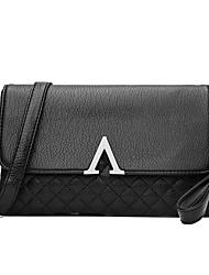 cheap -Women's Rivet Faux Leather / PU Crossbody Bag Solid Color Black