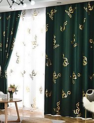 cheap -Nordic Simple Style Curtain New Bronzing Black  Shading Shade Fabric Thickened Two Panels For Bedroom