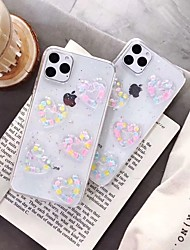 cheap -Case For Apple Scene map iPhone 11 X XS XR XS Max 8 The New Colorful plating Love pattern laser Glue Craft TPU Material phone case SH