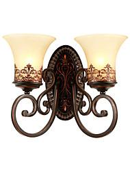 cheap -American Style Restoring Ancient Ways Double Head Wall Lamp Bedroom Bedside Balcony Corridor Mirror Headlight Living Room Tie Yi Lamps