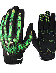 cheap -SPAKCT Bike Gloves / Cycling Gloves Mountain Bike MTB Breathable Anti-Slip Sweat-wicking Protective Full Finger Gloves Sports Gloves Black / Green for Adults' Outdoor