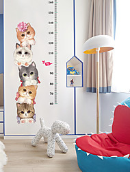cheap -SK7178 creative personality cat height sticker living room kindergarten decorative wall sticker can be removed