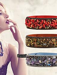 abordables -Bracelet à maillons fait main Femme Géométrique Chanceux Décontracté / Sport Bracelet Bijoux Noir Jaune Clair Violet pour Quotidien