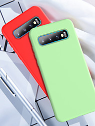 cheap -Original Liquid Thin Silicone Soft Case For Samsung Galaxy S10 Plus 5G S10 E S9 Plus S8 Plus Note 10 Plus A80 A90 A70 A60 A50 A40 A30 A20 A10 A7 2018 Note 9 Note 8 Shockproof TPU Phone Case Cover