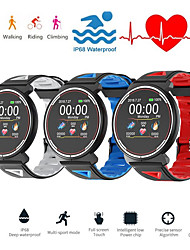 cheap -Smartwatch Digital Modern Style Sporty Silicone 30 m Water Resistant / Waterproof Heart Rate Monitor Bluetooth Digital Casual Outdoor - Black / Blue Black / Gray Black / Red