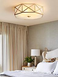 cheap -4-Light All-copper American Ceiling Lamp Rural Household Modern Simple Living Room Lamp Study Lamp Bedroom Lamp 1248-4