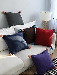 cheap -1 pcs Polyester Pillow Cover, Solid Colored Throw Pillow